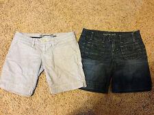 LOT of 2 American Eagle Shorts Size 2 Jean Striped Super Cute