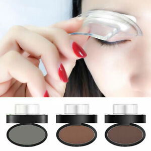 Women Natural Eyebrow Powder Brow Stamp Brow Dye Cosmetic Definition Makeup Tool