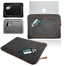 Smart Felt Sleeve Leather RETRO PIPING Carrying Case Cover for Apple Macbook
