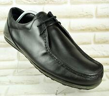 HENRI LLOYD Mens Black Leather Casual Lace-Up Shoes Boots Size 10 UK 44 EU 11 US