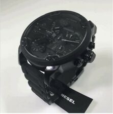 NEW DIESEL DZ7396 MR. DADDY 2.0 57MM BLACK STAINLESS STEEL MENS WATCH UK
