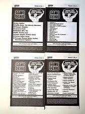 Super Nintendo SNES Game Genie Code Update Books - Vol. 2 No 1 2 3 & 4 RARE!