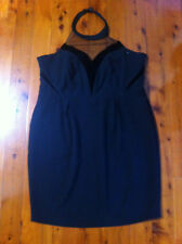 CITY CHIC BLACK HALTER NECK LINED FITTED DRESS SIZE: L BNWD RRP:$169.95