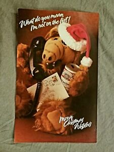 RARE 1980's Budweiser Alf Christmas Promo Photo Poster Limited Regional Printing