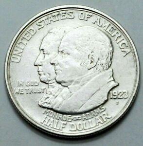1923-S MONROE ADAMS COMMEMORATIVE HALF DOLLAR RARE COIN SILVER LOS ANGELES RARE!