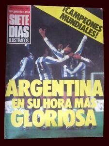 FIFA WORLD CUP 1978 - ARGENTINA CHAMPION - Siete Dias Magazine + Poster