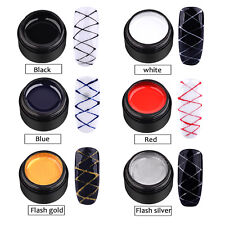6Color/set Nail Art UV Gel Drawing Elastic Line Painting Gel Varnish Silk Spider