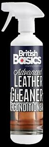 British Basics Leather Cleaner And Conditioner Reviver Upholstery Sofa Chairs BB