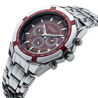 CURREN Men Fashion Stainless Steel Watch Analog Date Sport Quartz Wrist Watches