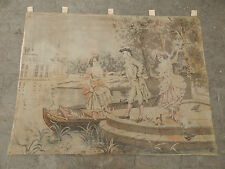 Big Vintage French Beautiful Romantic Scene Tapestry 157x121cm (A327)