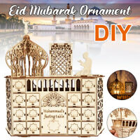 Wooden Muslim Mubarak Ramadan Advent Calendar 30 ay House rawer LE ecor