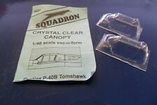SQUADRON 1:48 CUPOLINO TRASPARENTE CANOPY CURTISS P-40B TOMAHAWK  ART 9527