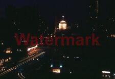 Rare Michigan Ave Night Scene Chicago Car Light Streaks 1960 Kodak 35mm Slide 1