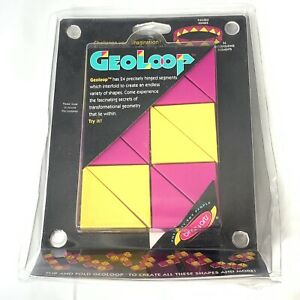 Binary Arts Geometry Toy Geo Loop Flip Fold Vintage Puzzle Create Shapes 1996