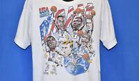Vintage USA Basketball Dream Team Caricature White T-shirt Unisex All Size ZL207