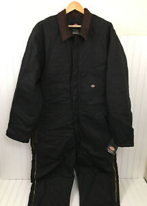 Dickies Premium Insulated Coveralls Heavy Black XLT XL Tall Duck Canvas NEW NWT