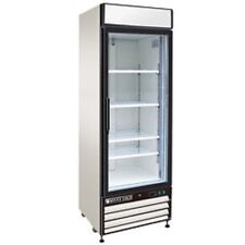 "New MAXX COLD Single Glass Door Reach-in Cooler 27"" MXM1-23R FREE SHIPPING!"