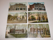 Lot of 6 Postcards 1907-11 Lowville NY Opera House, School, Park & Monument More