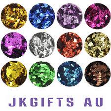 12 Mixed Color Mental Glitter Nail Tool Acrylic Powder Diamond Shape NS0049