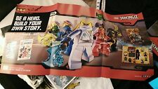 2015 New York comic con NYCC DK LEGO NINJAGO Masters Spinjitzu Poster 33x17 EXCL