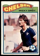 Topps Footballers 1978 Orange (B1) Micky Droy Chelsea No. 161