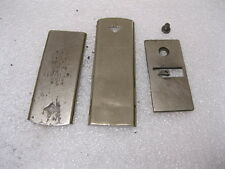 1890 White's Treadle SEWING MACHINE NEEDLE PLATE & FRONT & REAR SLIDE PLATES