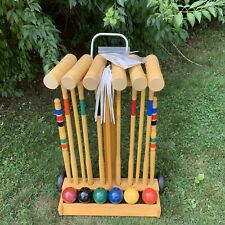 New Brookstone Premium 6 Player Outdoor Croquet Set for Adults & Kids