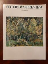 Sotheby's Preview November 1995 (Vol. 7) Paperback