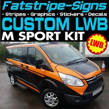FORD TRANSIT CUSTOM LWB M SPORT GRAPHICS STICKERS DECALS STRIPES M-SPORT VAN