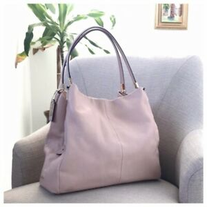 Coach Madison Phoebe Handbag 3 Compartment Bag Soft Blush Pink Leather