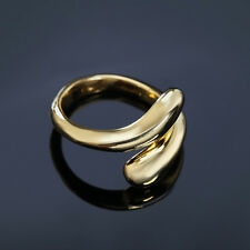 Gold Plated Fashion Wedding Party drop open lady Cute women Rings Jewelry nice