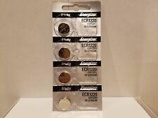 4 FRESH Genuine Energizer CR1220 ECR1220 3V Coin Button Batteries Fast Shipping