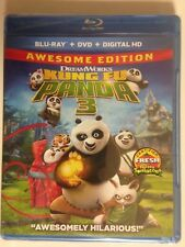 Kung Fu Panda 3 (Blu-ray/DVD, 2016, 2-Disc Set, )(NEW)
