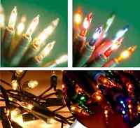 CLEAR MULTI COLOUR XMAS FAIRY LIGHTS BULBS CHRISTMAS DECORATION TREE PARTY