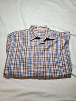 PETER MILLAR Men Check Plaid plaid Button front Long Sleeve Dress shirt Large L