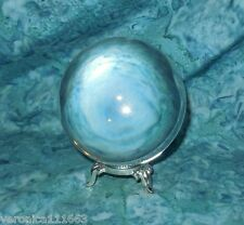 Crystal Gazing Ball 80mm & Silver Stand NEW Scrying Divination Magic Ritual