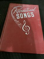 Recreational Songs The LDS Church Youth 1949 Hardcover Hymnal Hymn Book Mormon