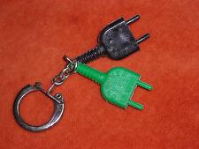 porte-clés Keyfob CHROMEX Prise electrique LE MANS .. verte et noire en plastic