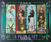Disney Parks The Haunted Mansion 4 Puzzle Set Stretching Room Portraits