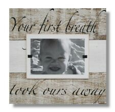 BABY CHILD PICTURE FRAME BEACH WALL ART RECLAIMED BARNWOOD RUSTIC SIGN VALENTINE