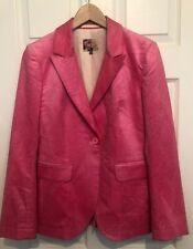 Uth ( By Jigsaw) Neon Pink Cord Blazer Size 10