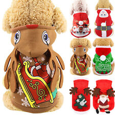 Christmas Puppy Dog Jumper Outfit Pet Xmas Reindeer Costume Funny Clothes Coat