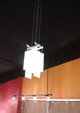 Multi glass panel pendant light fixture