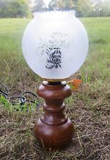 Tischlampe Antik Nachtischlampe Lampe HOLZ Tischleuchte Design H25 Leselampe