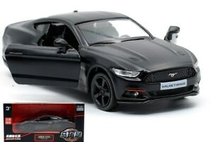 1:36 BLACK 2015 Ford Mustang Car Vehicle Collection Pull Back Model Diecast Toy