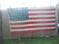 Vintage 48-Star US Flag Worn & Distressed 7.5' x 6.0'~ESTATE FIND~