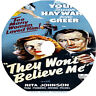 They Won't Believe Me DVD Robert Young Susan Hayward Jane Greer 1947