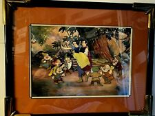 Snow White And The Seven Dwarfs Cel With Backround