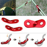 10pcs Red Alloy Tent Awning Cord Rope Fastener Guy Line Bent Runner Tensioner