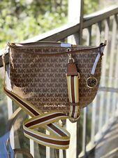 Michael Kors Women Jacquard Leather Crossbody  Shoulder Bag Handbag Purse Hobo